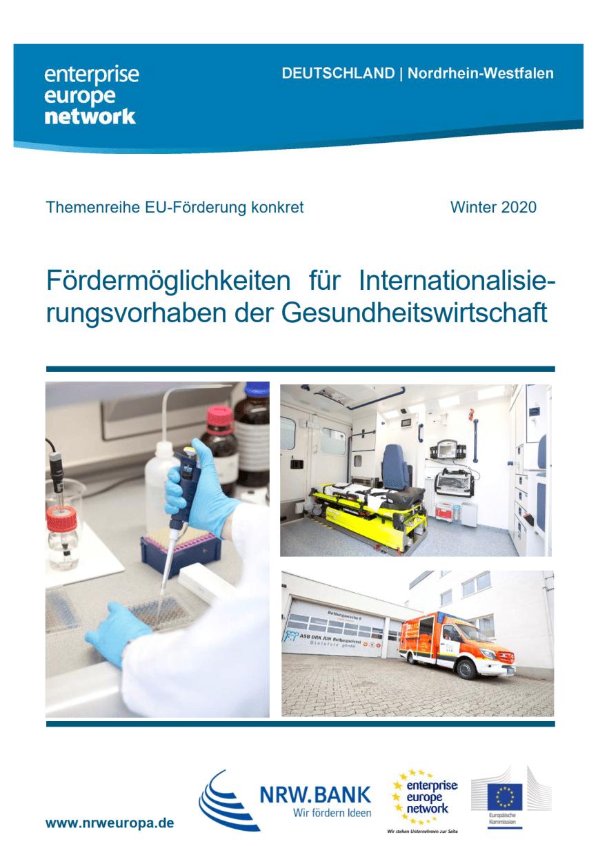 Fördermöglichkeiten: Internationalisierungsvorhaben der Gesundheitswirtschaft